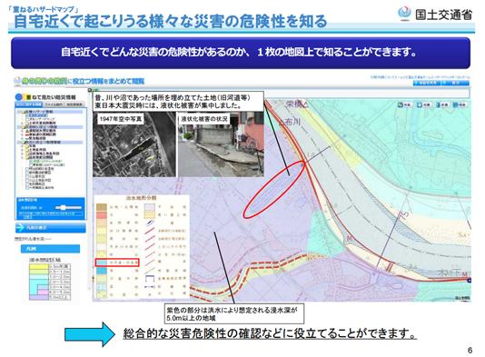 出典:重ねるハザードマップ|国土交通省